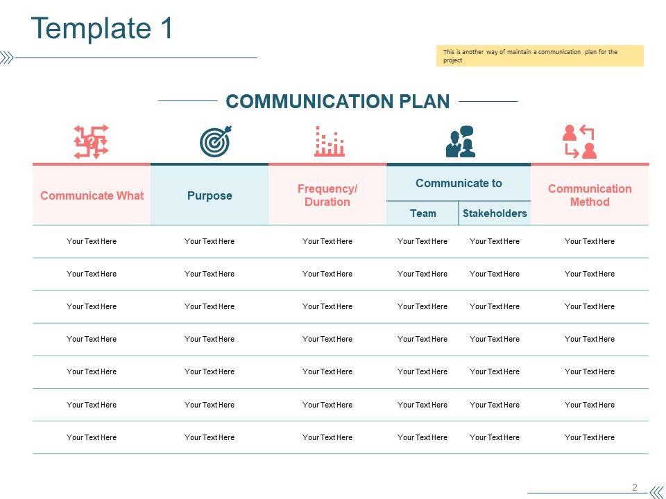 Project Communication Plan Powerpoint Presentation Slides PPT