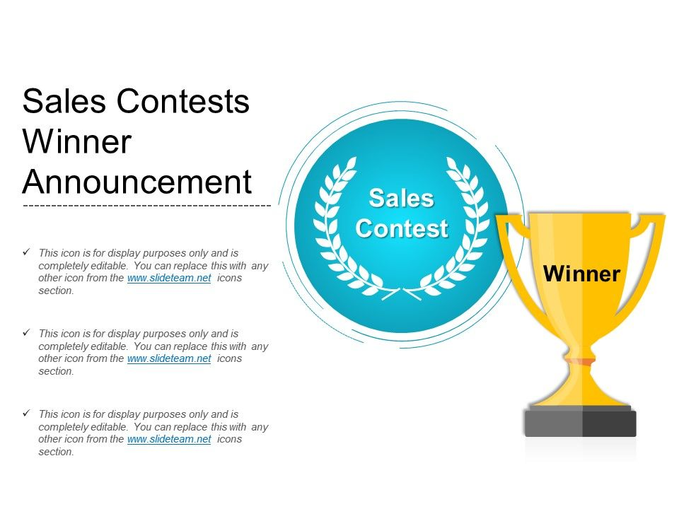 Sales Contests Winner Announcement PowerPoint Presentation Images