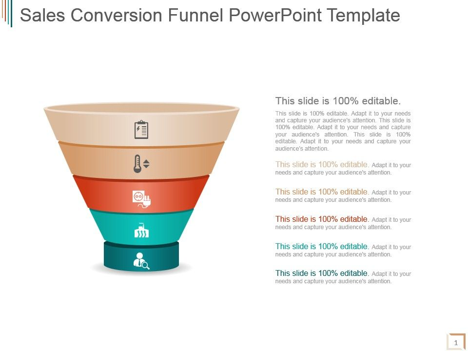 Sales Conversion Funnel Powerpoint Template PowerPoint Templates