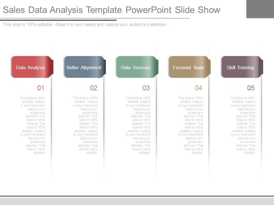 Sales Data Analysis Template Powerpoint Slide Show PowerPoint
