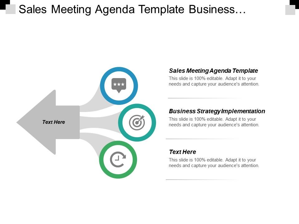 Sales Meeting Agenda Template Business Strategy Implementation