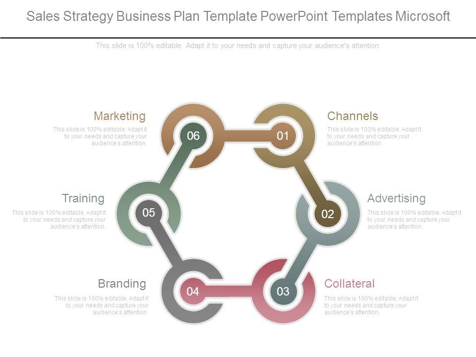 Sales Strategy Business Plan Template Powerpoint Templates Microsoft