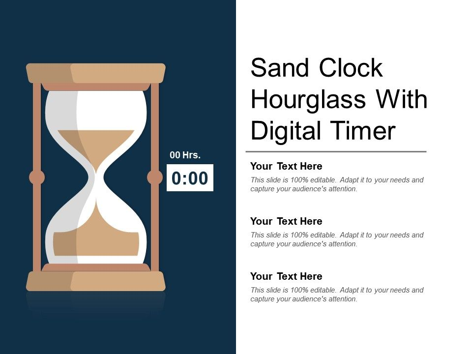 Sand Clock Hourglass With Digital Timer PowerPoint Presentation