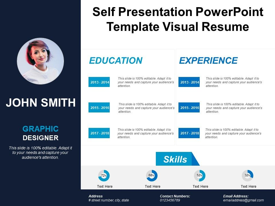 visual resume ppt template