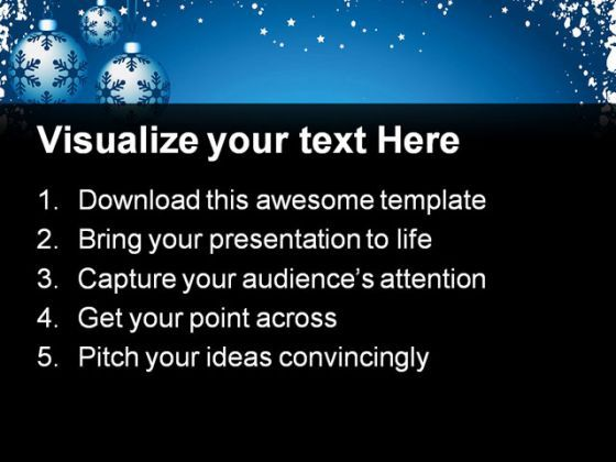 Snowflake Background Christmas PowerPoint Templates And PowerPoint