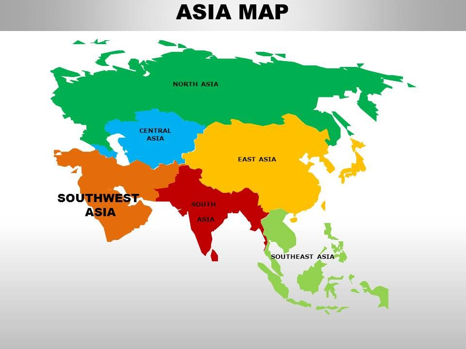 South Asia Continents PowerPoint maps PowerPoint Slide Images