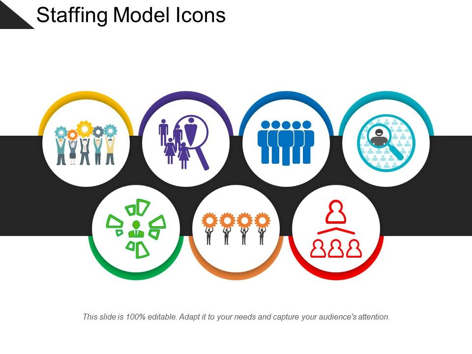 Staffing Model Icons PowerPoint Presentation Designs Slide PPT