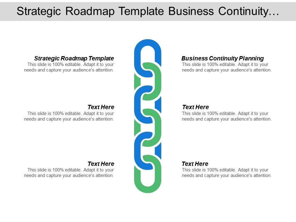 Strategic Roadmap Template Business Continuity Planning Business