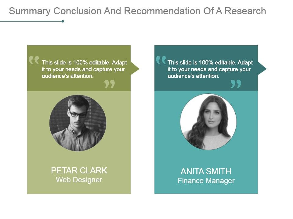 Summary Conclusion And Recommendation Of A Research Paper Powerpoint