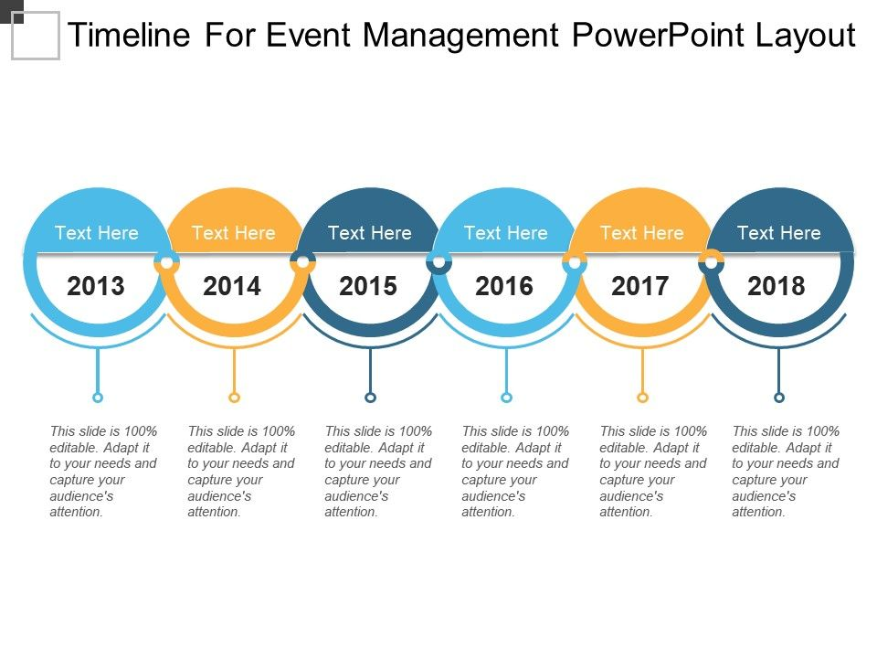 Timeline For Event Management Powerpoint Layout PowerPoint Slide