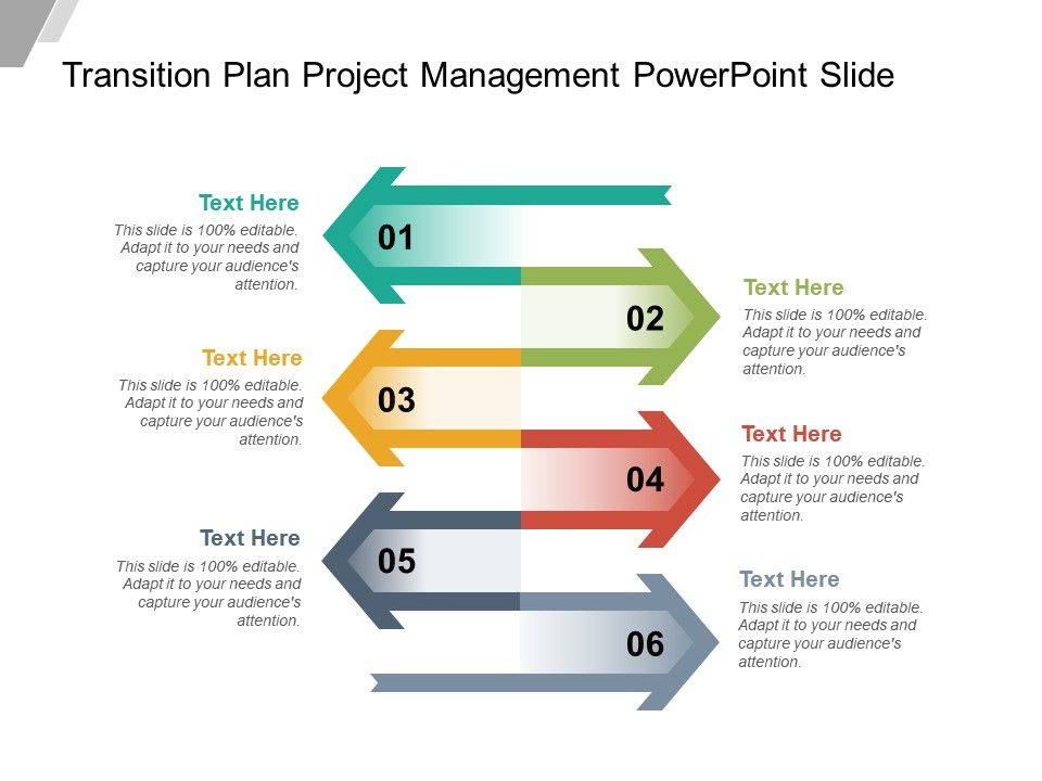 Transition Plan Project Management Powerpoint Slide PowerPoint