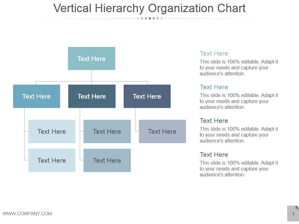 Vertical Hierarchy Organization Chart Ppt Design PowerPoint