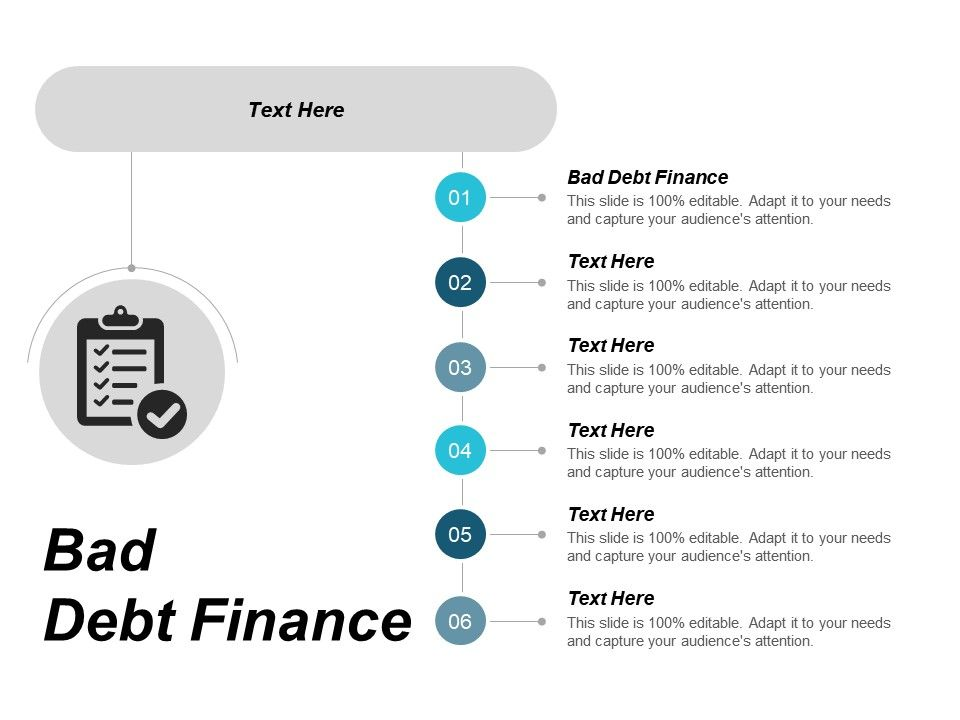 Bad Debt Finance Ppt Powerpoint Presentation Gallery Example File