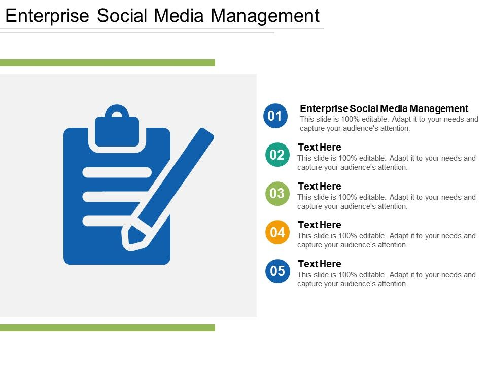 Enterprise Social Media Management Ppt Powerpoint Presentation