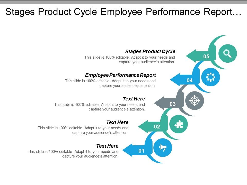 Stages Product Cycle Employee Performance Report Future Scenarios
