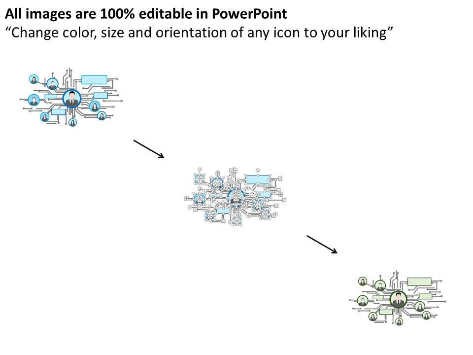 electronic circuit design organizational chart flat powerpoint