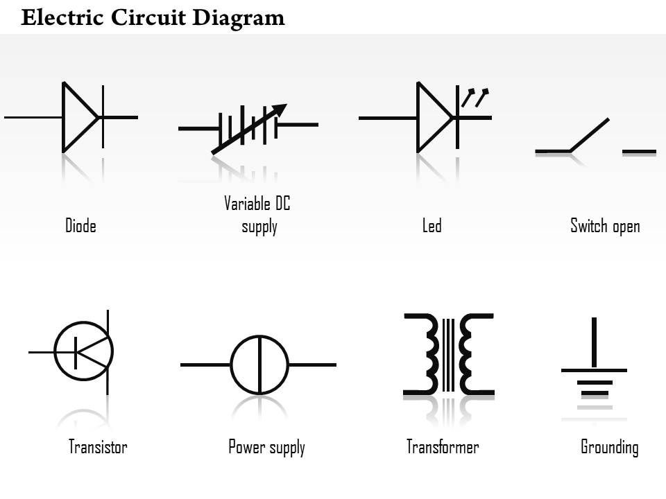 circuit diagrams diode led transistor transformer icons grounding