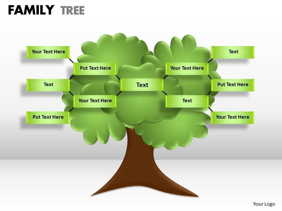 3431139 Style Hierarchy Tree 1 Piece Powerpoint Presentation Diagram