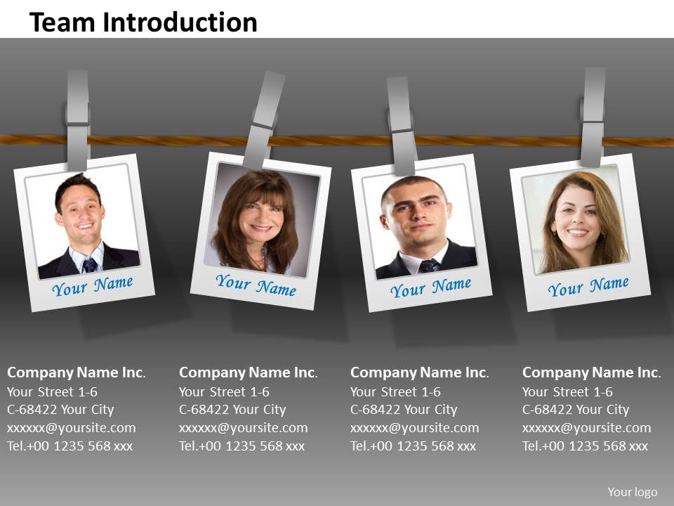 Team Introduction PowerPoint Business Slides Team Introduction PPT