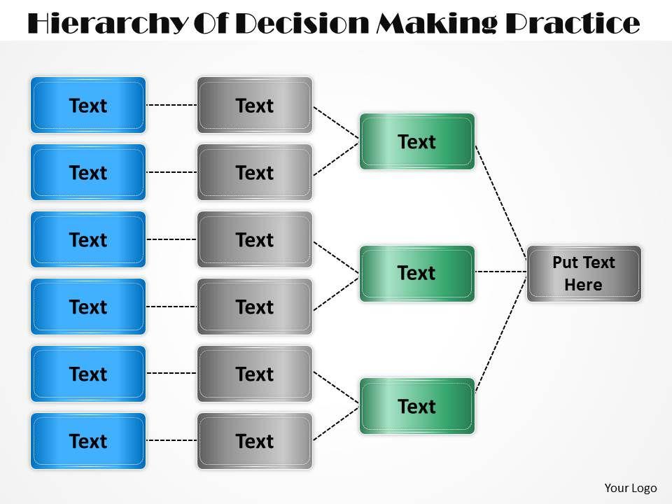 67350197 Style Hierarchy Flowchart 1 Piece Powerpoint Presentation