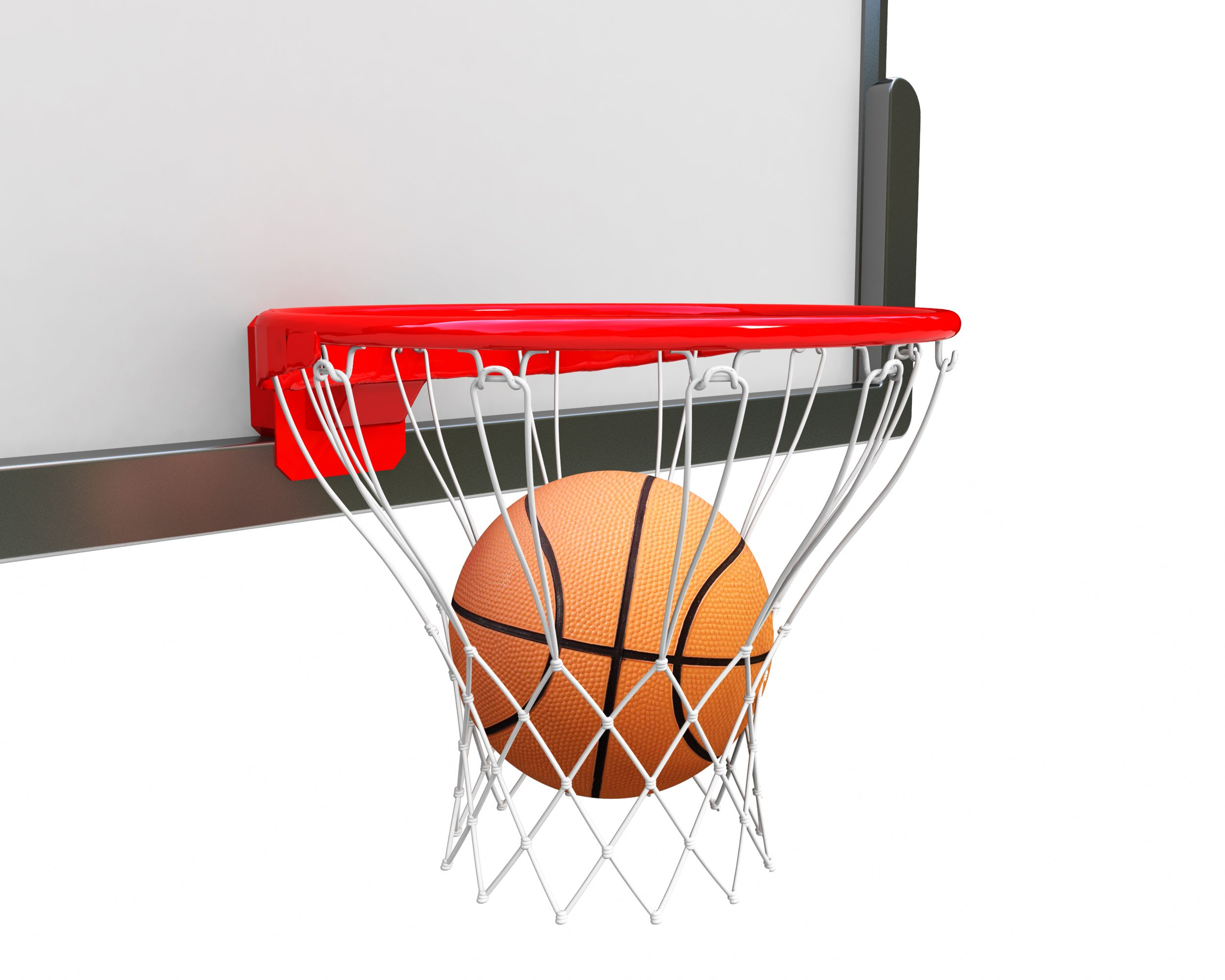 Ball Inside Ring For Basketball Game Stock Photo Templates