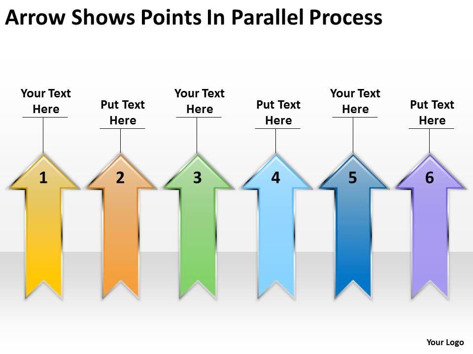 Business Logic Diagram Arrow Shows Points Parallel Process
