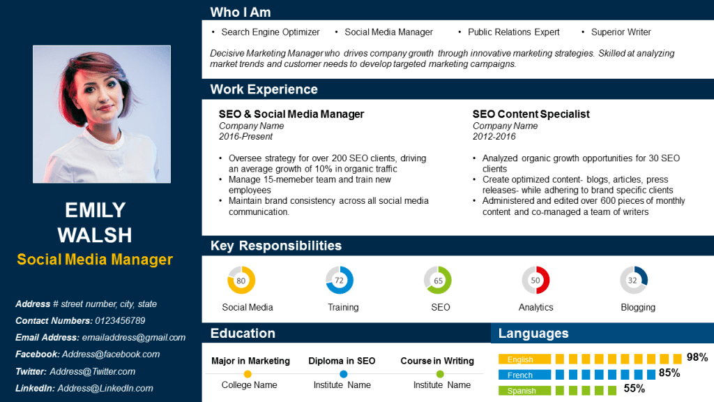 resume seo keywords