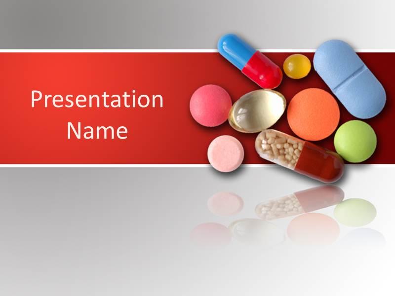 Medicinal Pills PowerPoint Template, PowerPoint Background