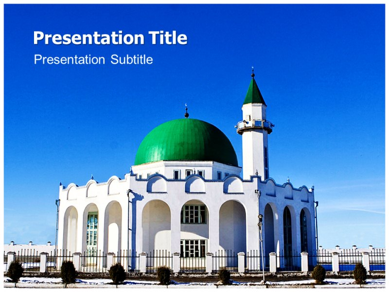 Mosque Powerpoint template PPT Template on Mosque Powerpoint
