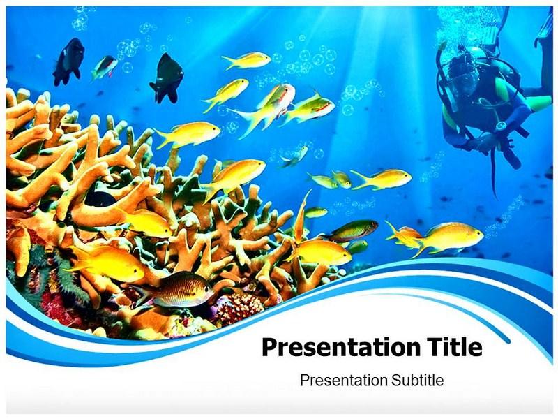 Blue Ocean Sky Powerpoint Templates Ocean Powerpoint Template