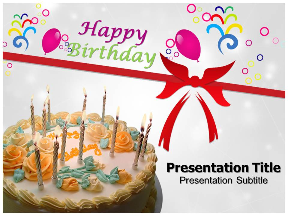 Happy Birthday PowerPoint Templates Happy Birthday PPT Templates
