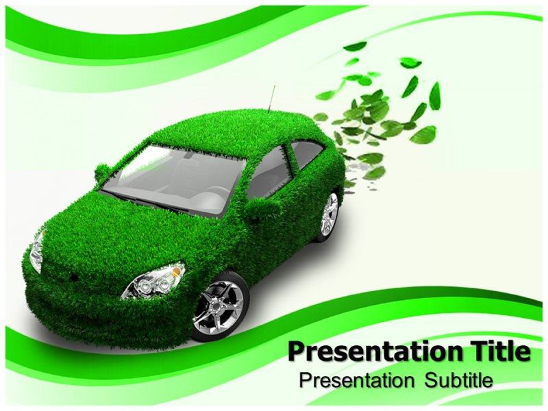 eco friendly car Powerpoint Templates eco friendly car Powerpoint
