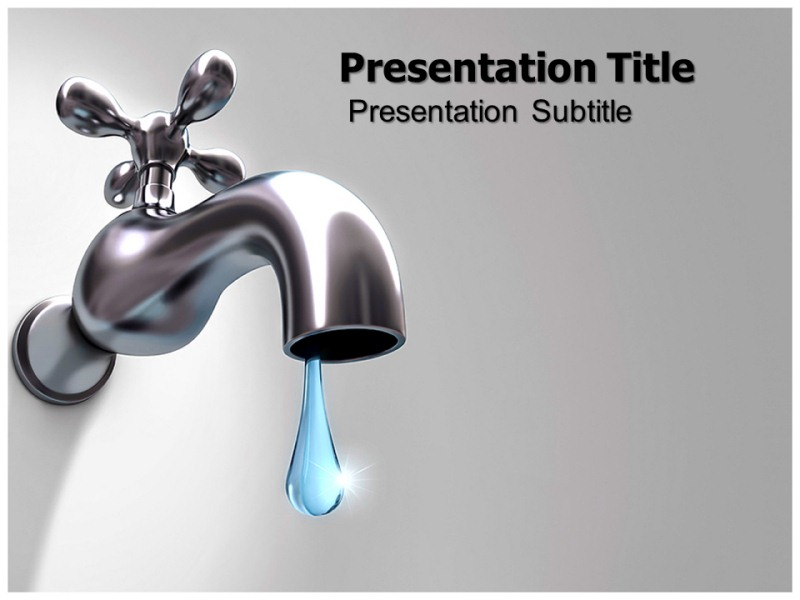 Water wasting powerpoint templates powerpoint presentation on - water powerpoint template