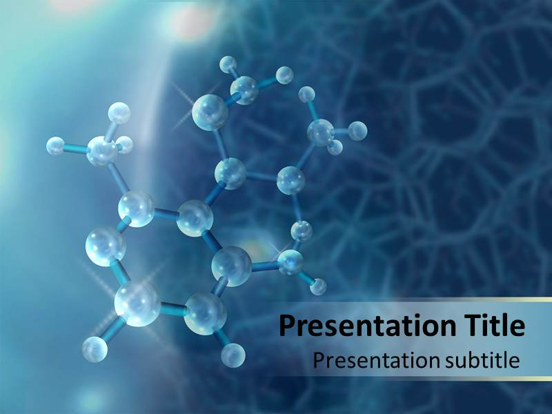 Molecule PowerPont Mac Templates, Mac Molecule PPT Background