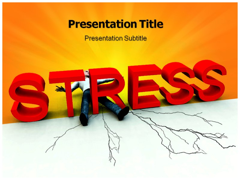Stress PowerPoint (PPT) Template, Template PowerPoint, PowerPoint Slides