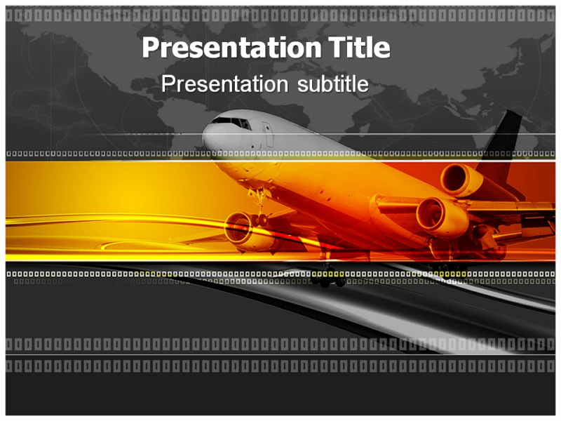 find creative template on airline and related presentations on