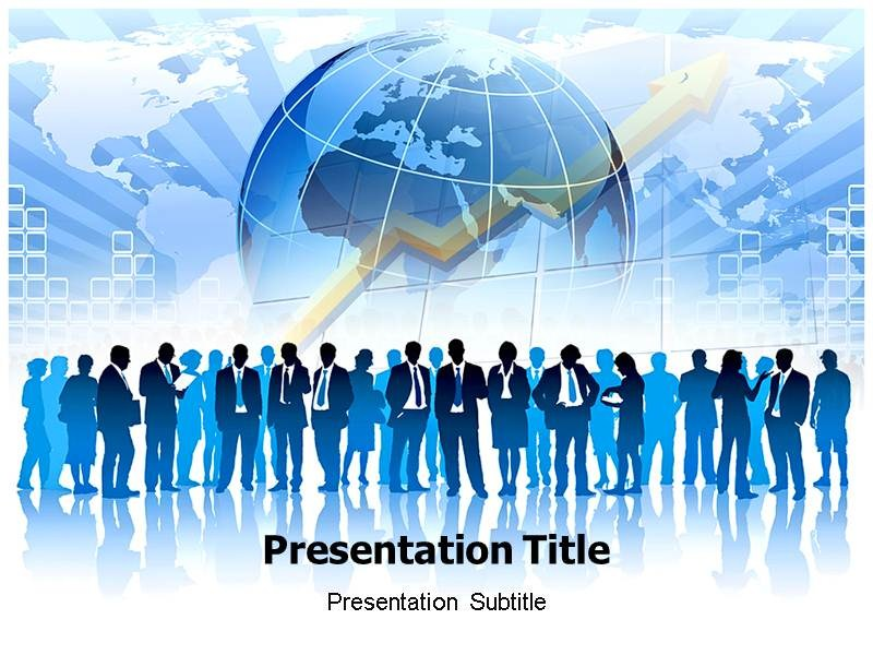 Global Business Communication PowerPoint Template, PowerPoint Slides - global powerpoint template