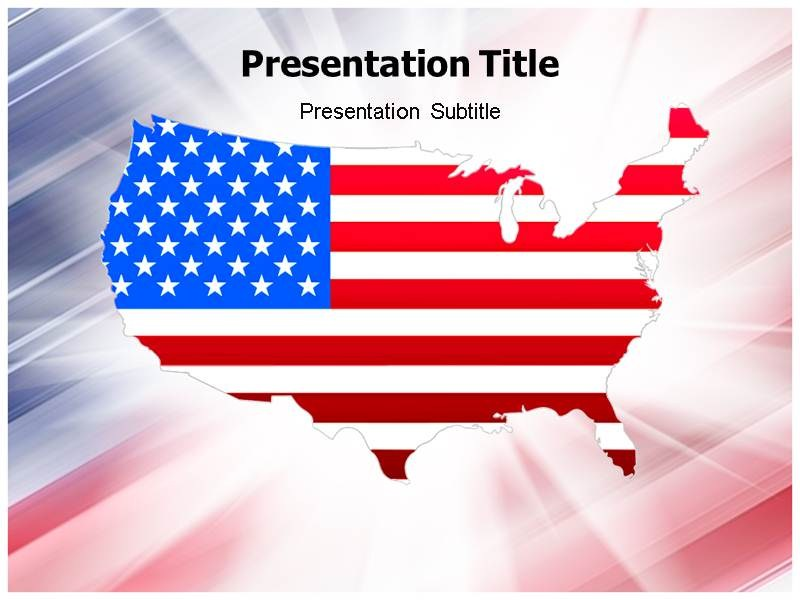 USA Map Powerpoint(PPT)Templates PPT Template on USA Maps