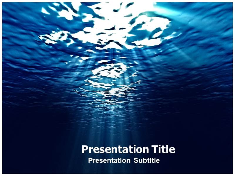Sea PowerPoint (PPT) Template, Template PowerPoint, PowerPoint