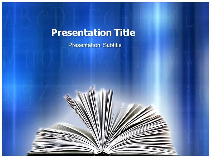 Open Book (PPT)Powerpoint Template Open Book PPT Templates Open