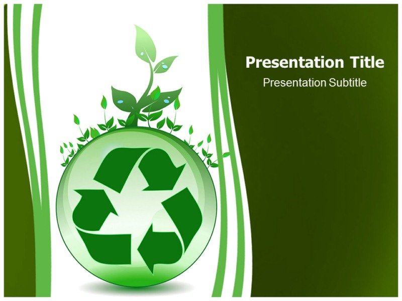 Global Recycling PowerPoint Template, Template PowerPoint - recycling powerpoint templates
