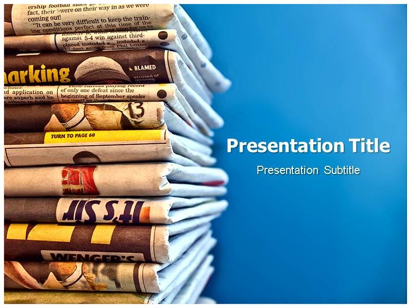 Newspaper Powerpoint (PPT) Templates Powerpoint Template On - newspaper powerpoint template
