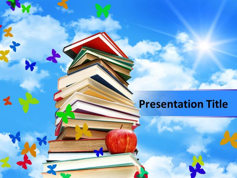 Books PowerPoint Templates Books In PowerPoint Book Review - powerpoint books