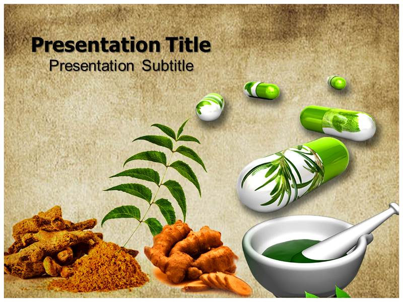 Herbal medicine PPT Template, Powerpoint Templates Powerpoint