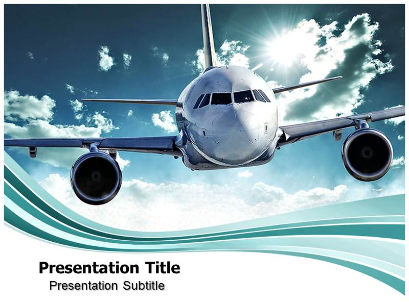 aerospace powerpoint(PPT) template aircraft powerpoint template