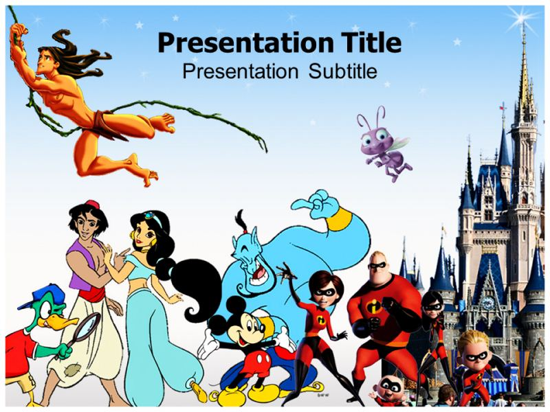Disney Cartoons Powerpoint Templates Powerpoint Presentation On