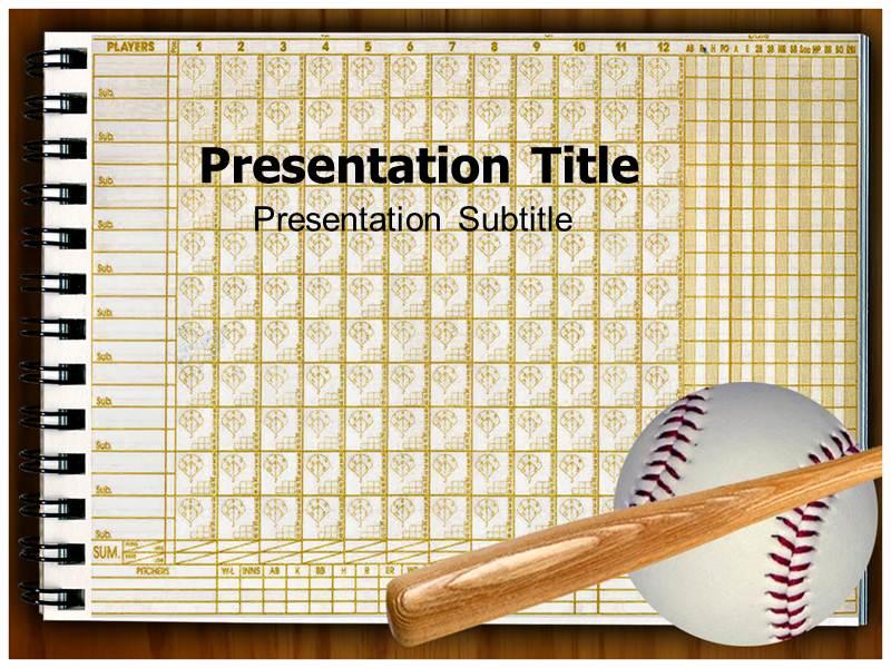 Baseball Scorecard Powerpoint Templates Baseball Scorecard PPT