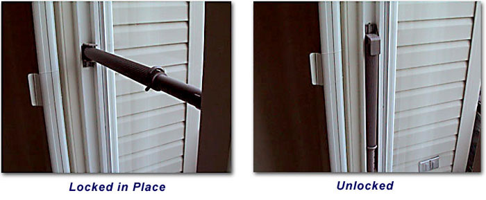 Wedgit sliding glass door lock how to use