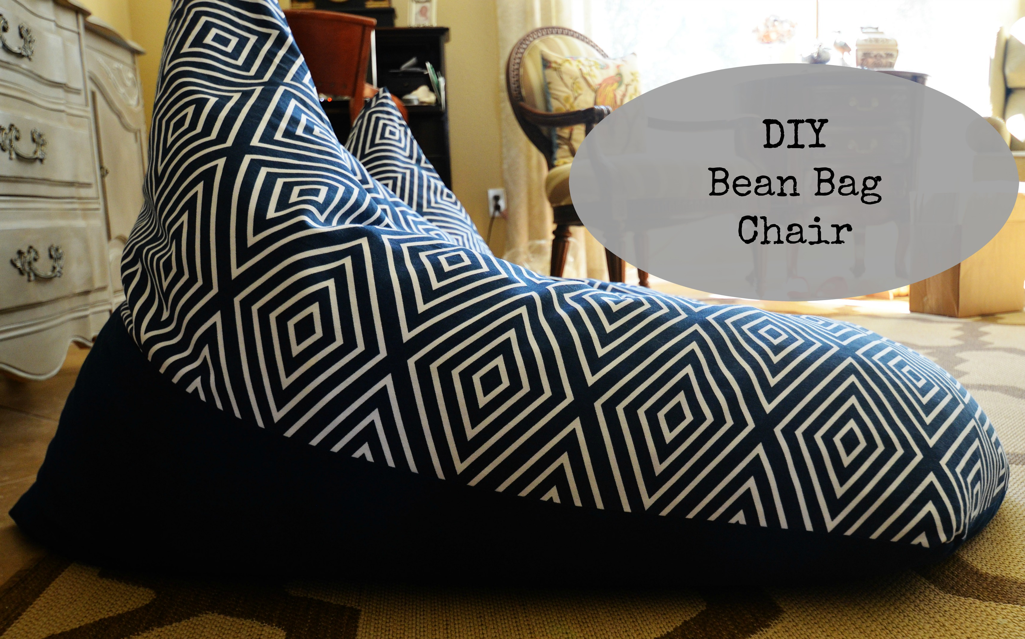 textile tuesday diy bean bag chairs slightly coastal. Black Bedroom Furniture Sets. Home Design Ideas