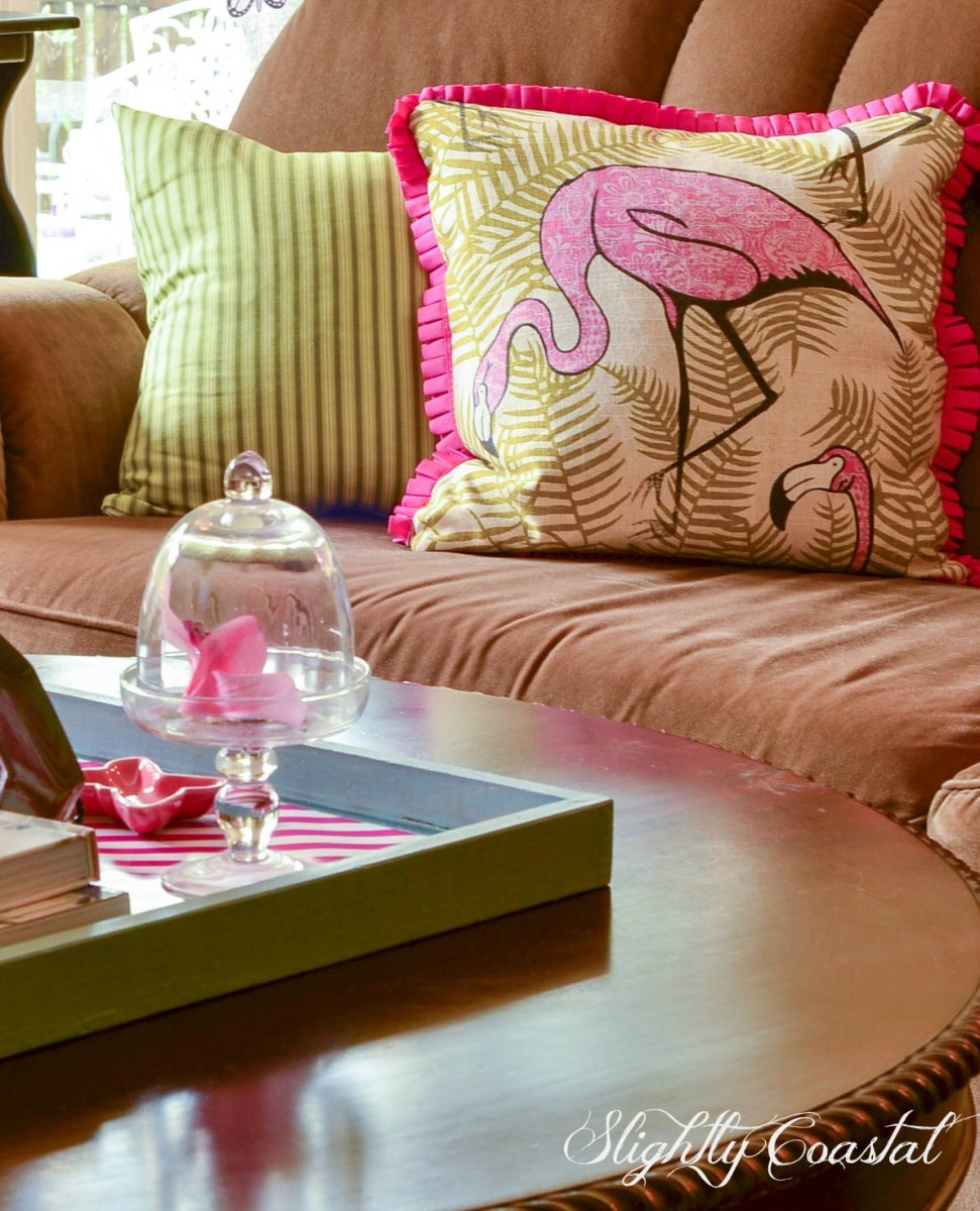 It's A Summer Flamingo Living Room: Florida Style